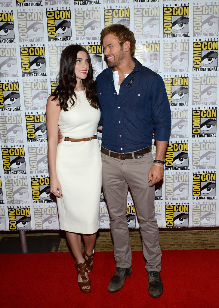 Ashley Greene and Kellan Lutz posed together.