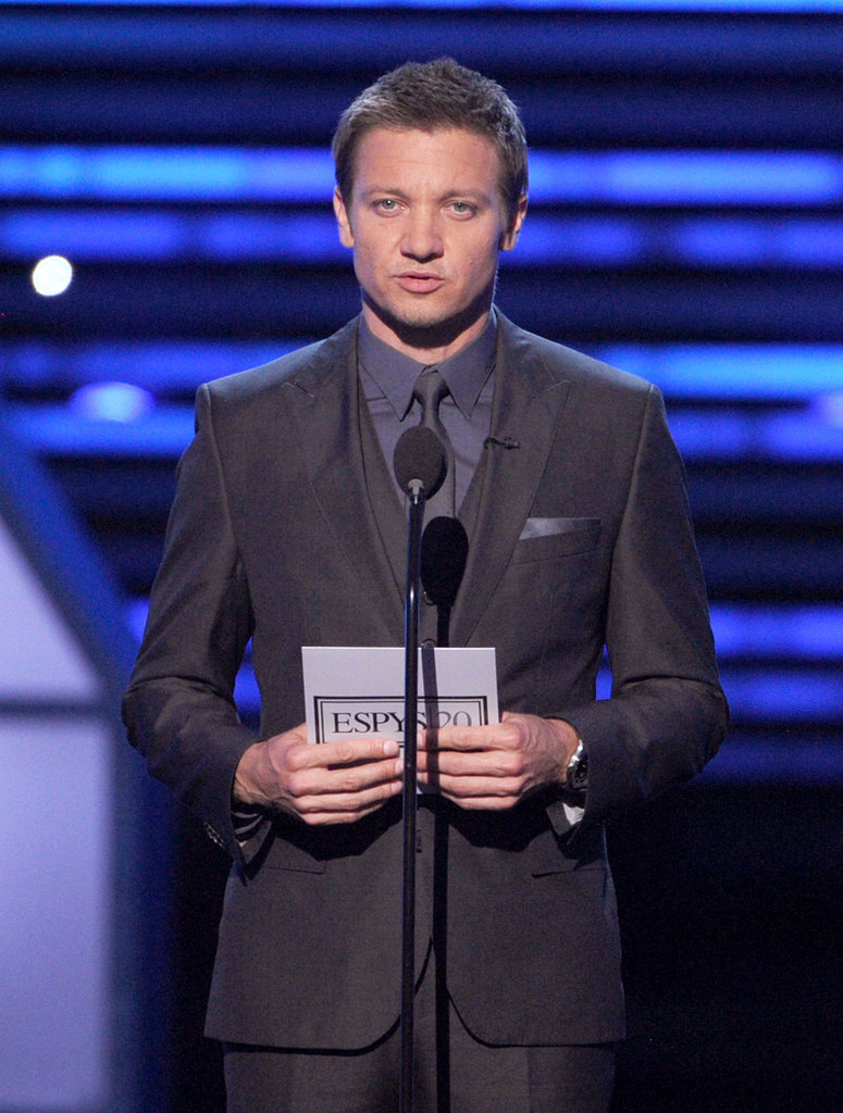 Jeremy Renner presented an ESPY Award.