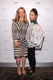 Nicole Richie and Martine Reardon wore patterned outfits.