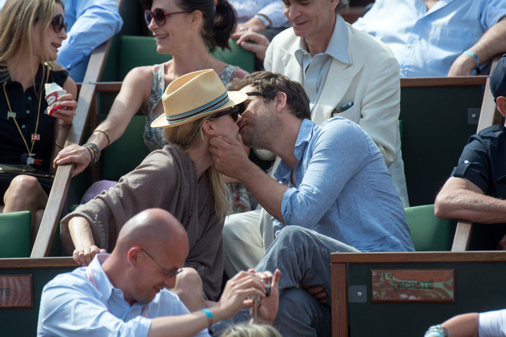 Joshua Jackson and Diane Kruger shared a kiss in May 2012 at the French Open in Paris.