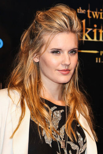 Maggie Grace wore a black teeshirt with a white blazer to the Breaking Dawn Part 2 party at Comic-Con.