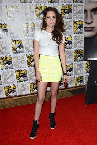 Kristen Stewart wore a BCBG skirt.