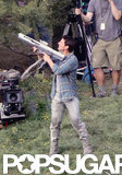As an action star, Tom Cruise is used to yielding a prop gun.