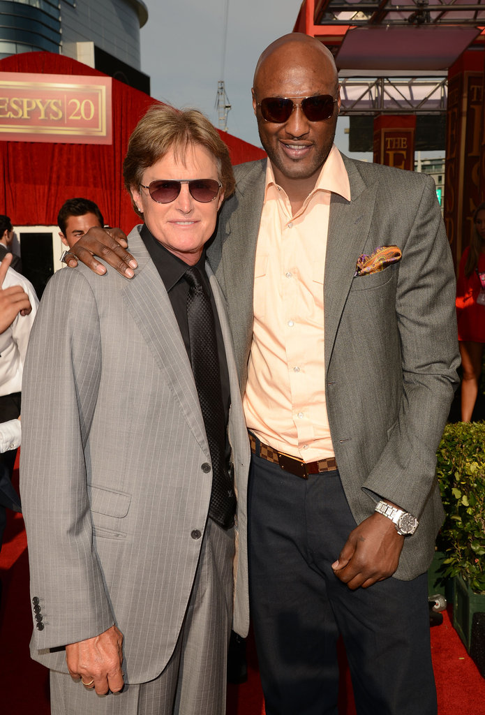 Bruce Jenner and Lamar Odom smiled in shades at the ESPY Awards in Los Angeles, CA.