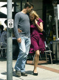 Joshua Jackson kissed Diane Kruger in April 2008 in LA.