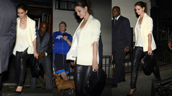 Katie Holmes's Sexy Night Out in Leather Pants