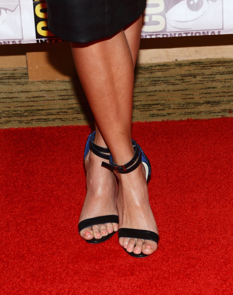 How cool are Nikki Reed's double-strap Tibi sandals?