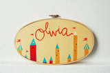 Baby Name Embroidered Wall Hoop ($40)