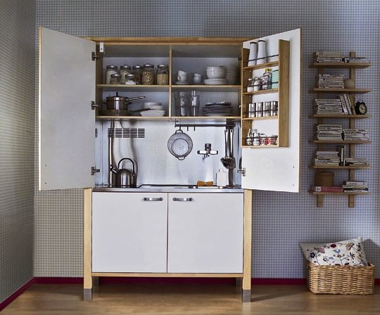 Storage for a small kitchen popsugar home - Kitchenette studio ikea ...