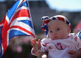An adorable baby born in the Jubilee year came out to celebrate.
