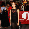 Zoe Kravitz Wearing Black Sheer Maxi Dress