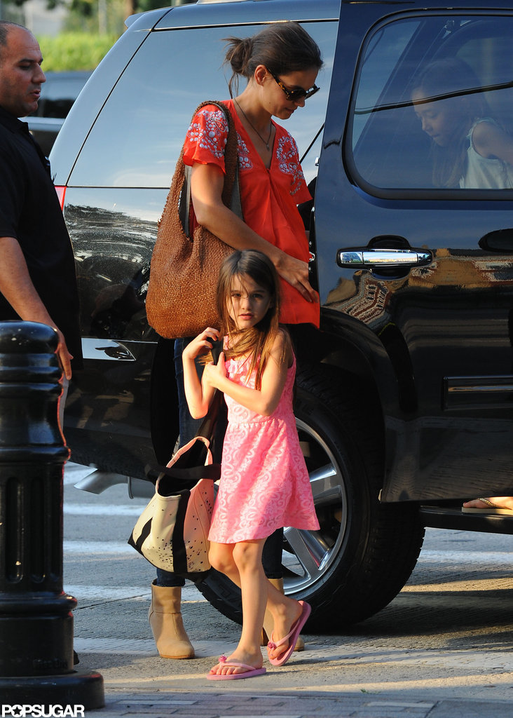 Katie Holmes and Suri Cruise went out for a day trip to Chelsea Piers.