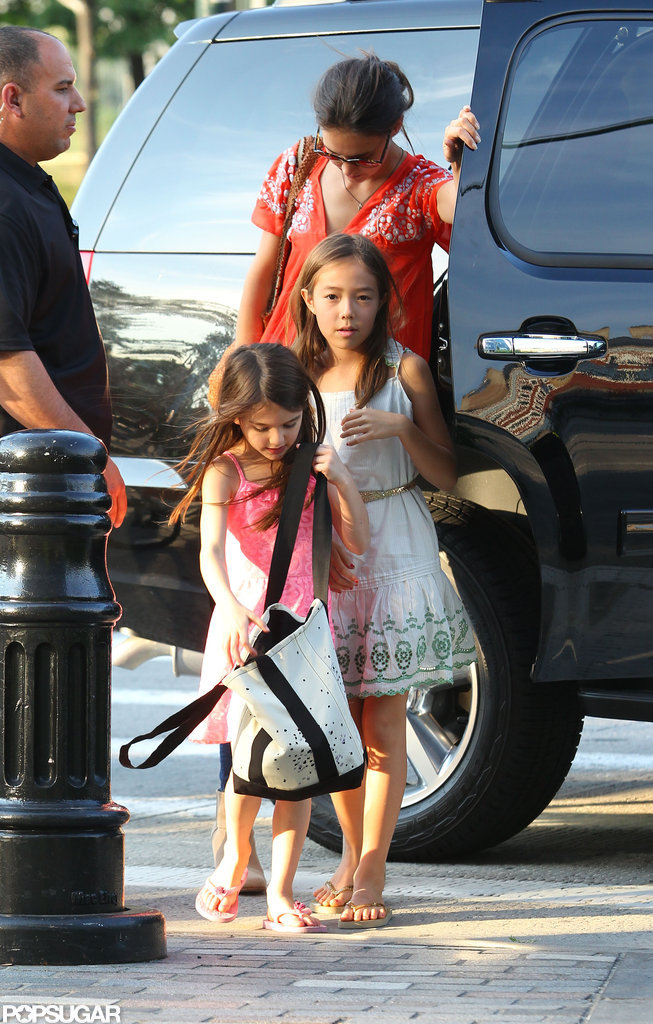 Katie Holmes and Suri Cruise headed to the athletic center in NYC.