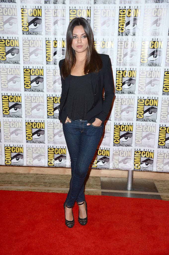 Mila Kunis wore jeans to Comic-Con.