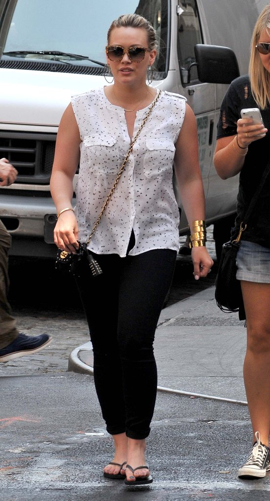 Hilary Duff stepped out in New York.