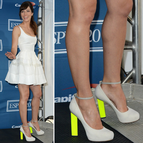 Channel Jessica Biel's ESPY Awards look — complete with neon heels.