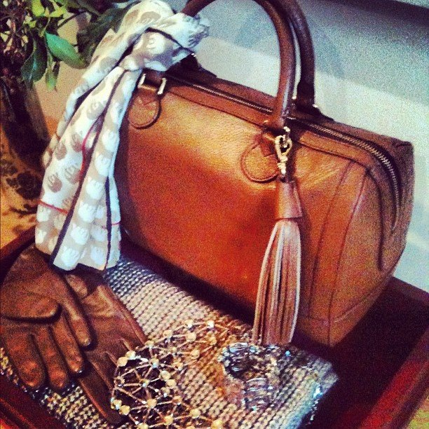 A peek at Banana Republic's holiday wares — we already think this satchel might make a great gift for Mom.