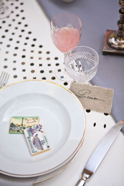 Parisian Matchbooks Photo by One & Only Paris Photography  via Style Me Pretty