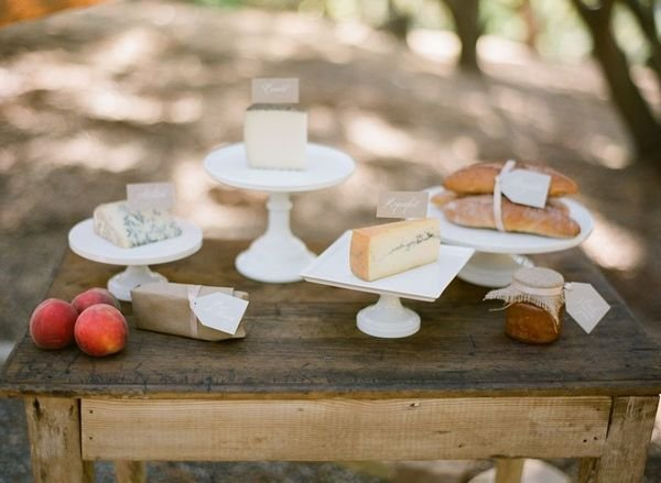 A Cheese Spread Photo by Michael and Anna Costa via Style Me Pretty