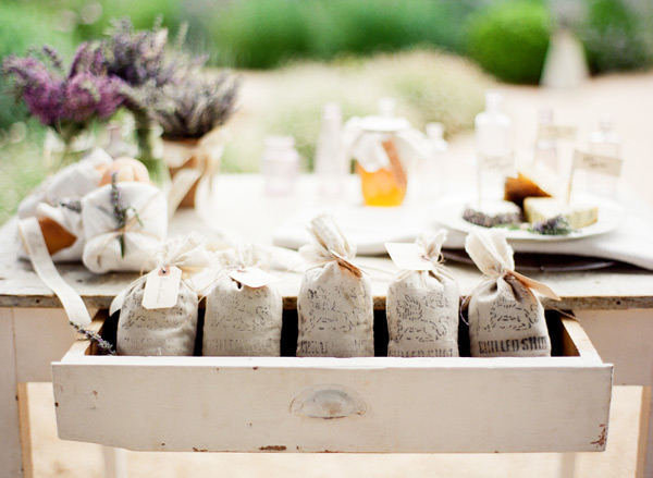 Lavender Sachet Favors Photo by KT Merry Photography via Style Me Pretty