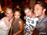 Lauren Santo Domingo, Nicole Richie, Jessica Hart and Derek Blasberg had a fun night out. Source: Derek Blasberg on WhoSay