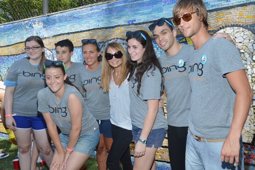 Nicole Richie posed for pictures at the Bing Summer of Doing celebrity volunteer event on July 10.