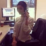 BellaSugar editor Sarah borrowed some headphones from the sales team — or should we say helmet?
