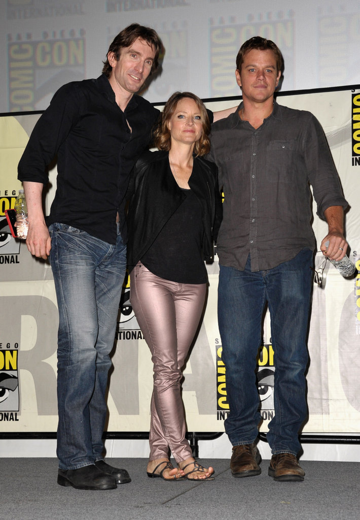 Sharlto Copley, Jodie Foster, and Matt Damon posed.