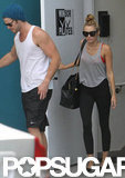 Miley and Liam Hit Pilates Together