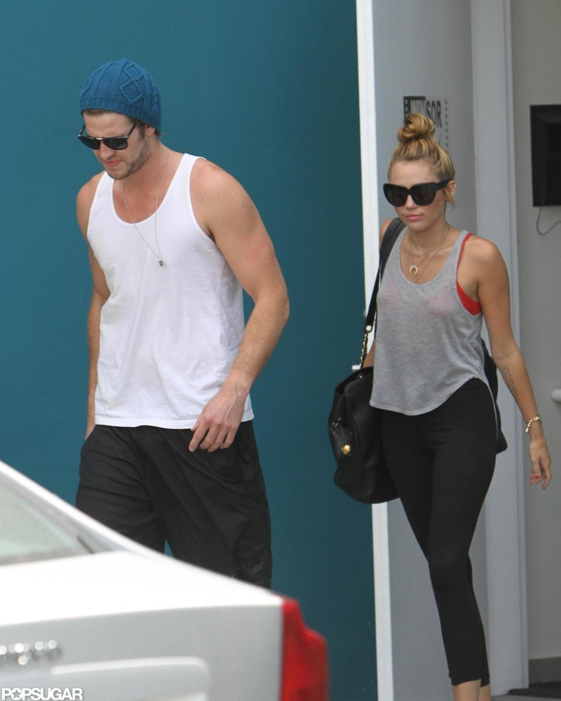 Miley Cyrus and Liam Hemsworth were in LA.