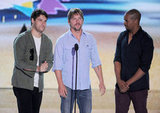 Adam Pally, Zachary Knighton, and Damon Wayans Jr.