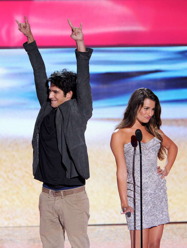 Tyler Posey and Lea Michele