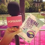 We were ready with a pass and microphone! Source: Instagram user popsugar