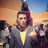 Colton Haynes had a monkey on his back — literally — at the Teen Choice Awards. Source: Instagram user coltonlhaynes