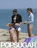 Alessanda Ambrosio and her daughter Anja Mazur played in Malibu.