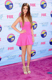 Selena Gomez wore pink to the Teen Choice Awards in LA.