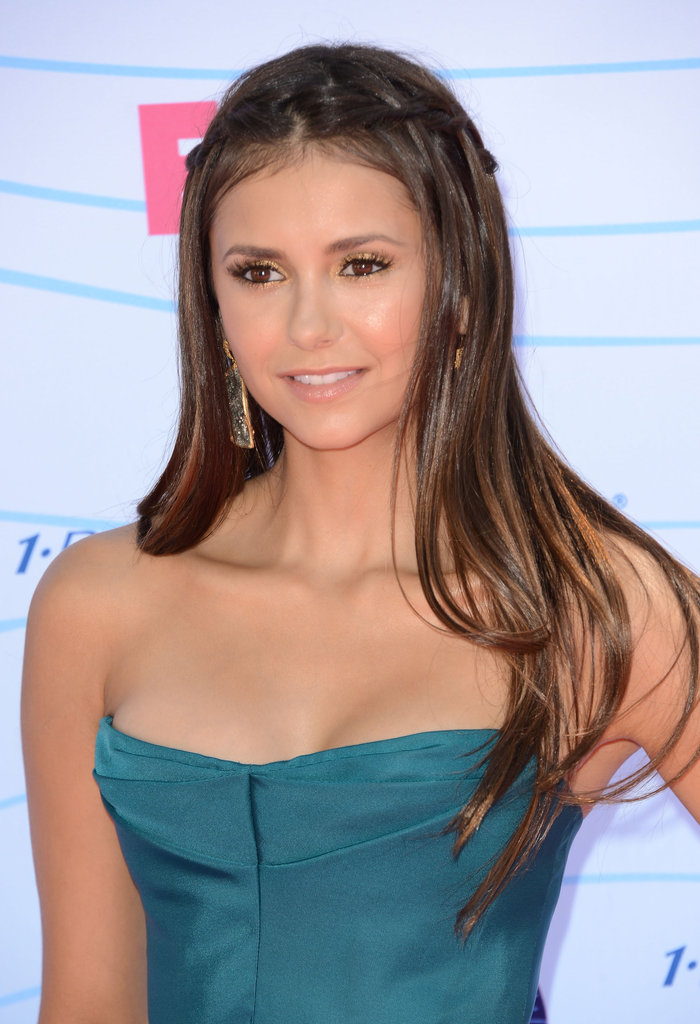 Nina Dobrev smiled at the Teen Choice Awards.