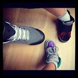 Joel Madden showed off his Jordans with daughter Harlow and son Sparrow. Source: Instagram user joelmadden
