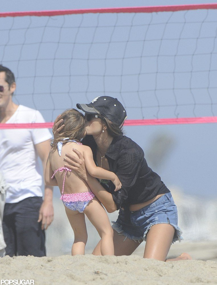 Alessandra Ambrosio Brings Her Bikini and Anja to the Malibu Beach