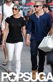 Jennifer Lopez and Casper Smart toured NYC.