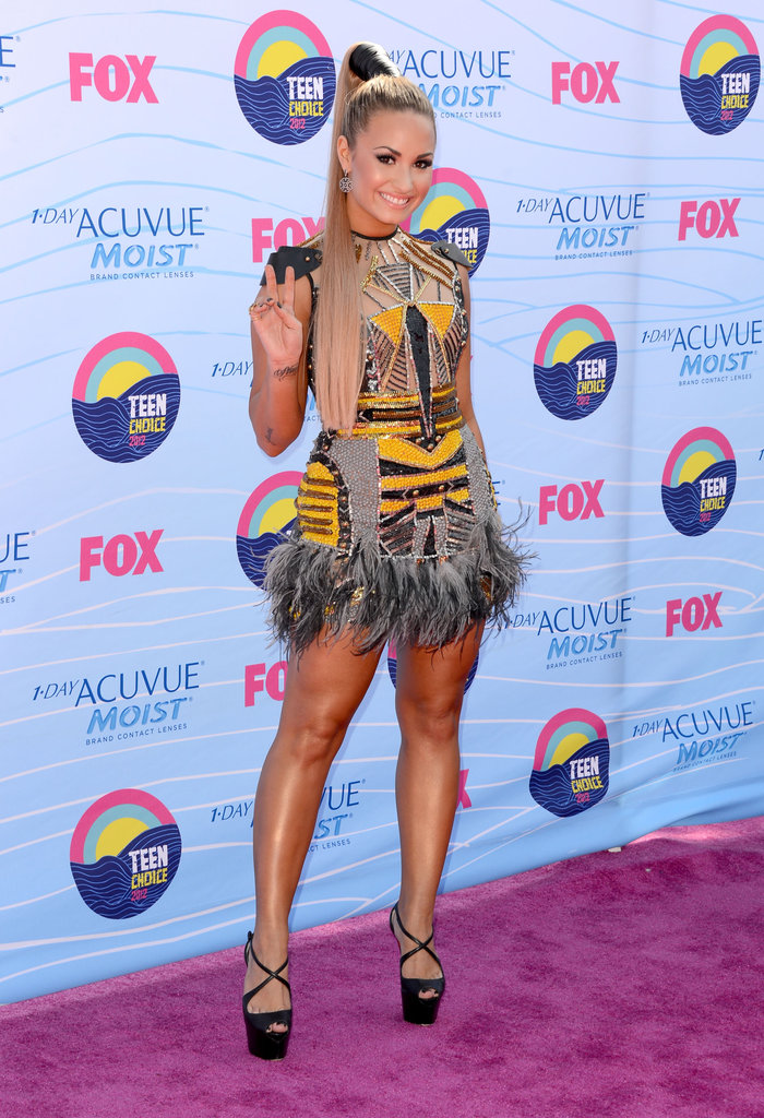 Demi Lovato at the Teen Choice Awards.