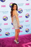 Lea Michele gave a sexy smile at the Teen Choice Awards.