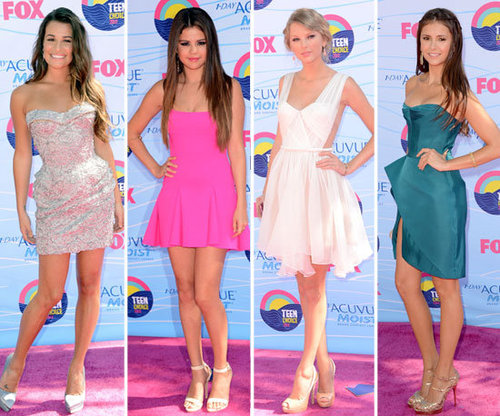 Who Was Best Dressed at the 2012 Teen Choice Awards: Selena Gomez, Lea Michele, Nina Dobrev or Taylor Swift?