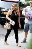Hilary Duff and Mike Comrie arrived in NYC with baby Luca.