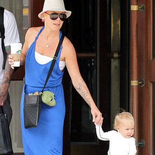 Pink Walks With Daughter Willow Hart