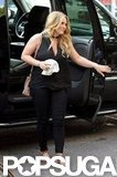 Hilary Duff sported an all-black ensemble in NYC.