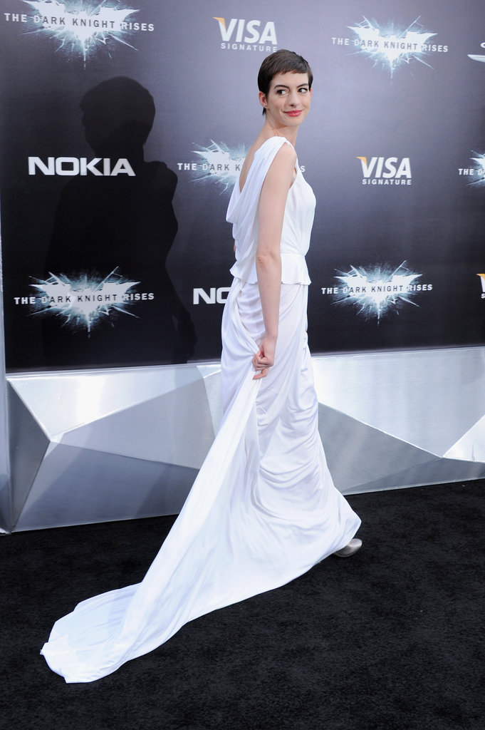 Ladies Wow in White With JGL and Christian Bale at NYC's Dark Knight Rises Premiere
