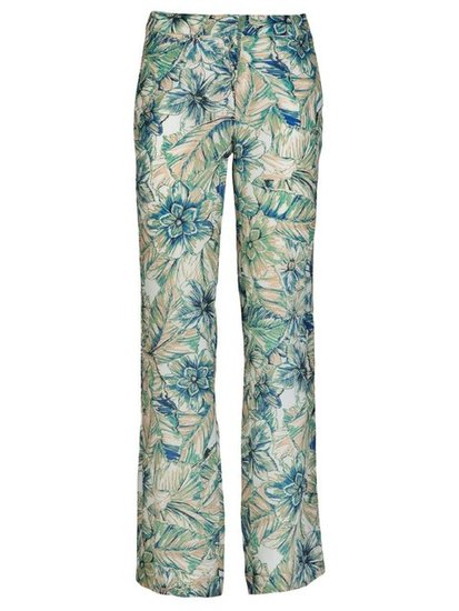 """I discovered this Spanish brand on a shoot for Marie Claire and have never looked back. These floral printed trousers could be dressed up and down. Just looking at the print now gets me in the mood for sunshine and cocktails . . ."" — Poppy Delevingne Masscob Printed Trouser ($440)"