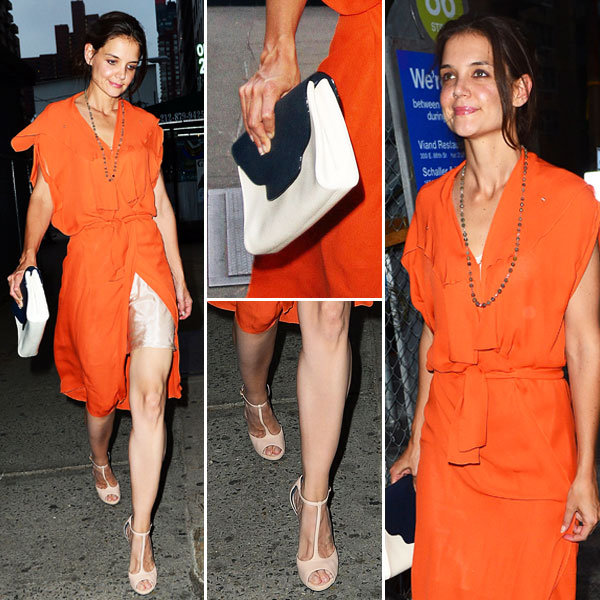 Katie Holmes Makes a Case For Wearing Bold Orange — See Every Angle!