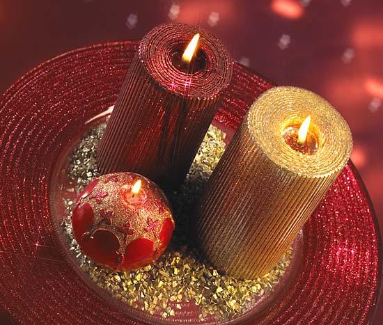 Christmas Candle Centerpieces Wedding
